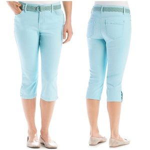 LIKE NEW Bandolino Mandie Light Blue Capri Jeans